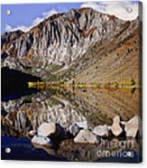Laural Mountain Convict Lake California Acrylic Print by Bob and Nadine Johnston
