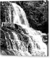 Laurel Falls Smoky Mountains 2 Bw Acrylic Print
