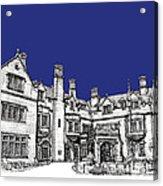 Laurel Hall In Royal Blue Acrylic Print