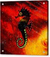 Lava Loving Seahorse Acrylic Print