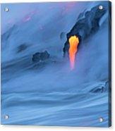 Lava Ocean Entry Acrylic Print