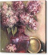 Lavender Hydrangeas Acrylic Print
