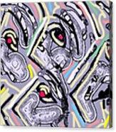 Lavender Profiles 2 Acrylic Print by Anita Dale Livaditis