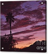 Lavender Red And Gold Sunrise Acrylic Print
