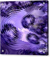 Lavender Water Abstract Acrylic Print