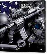 Law Enforcement Tactical Trooper Acrylic Print by Gary Yost
