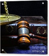 Lawyer - Books Of Justice Acrylic Print