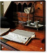 Lawyer - Quill Papers And Pipe Acrylic Print