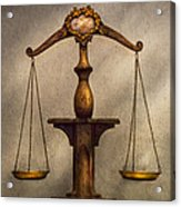 Lawyer - Scale - Fair And Just Acrylic Print