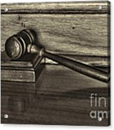 Lawyer - The Gavel Acrylic Print by Paul Ward