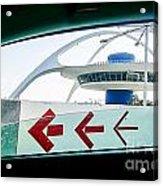 Lax Exit Arrows Acrylic Print