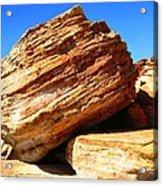 Layered Broome Rock Acrylic Print