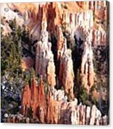 Layers Of Hoodoos And Bluffs Acrylic Print
