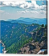 Layers Of Mountains From Watchman Overlook In Crater Lake National Park-oregon  Acrylic Print