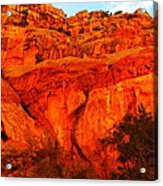 Layers Of Orange Rock Acrylic Print