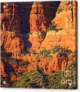Layers Of Red Rock Acrylic Print