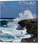 Lazy Fishing From The Rocks - No Fishermen Acrylic Print
