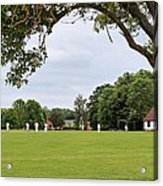 Lazy Sunday Afternoon - Cricket On The Village Green Acrylic Print