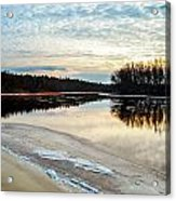 Lazy Winter River Acrylic Print by Michelle and John Ressler