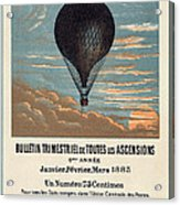 Le Ballon Advertising For French Aeronautical Journal Acrylic Print