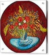 Le Bouquet Rouge - Original For Sale Acrylic Print