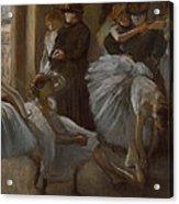 Le Foyer De L'opera Acrylic Print by Edgar Degas