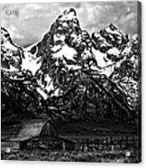 Le Grande Teton And Barn Acrylic Print