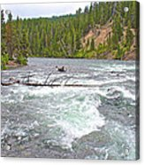 Le Hardy Rapids In Yellowstone River In Yellowstone National Park-wyoming   Acrylic Print