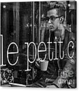 le petit cafe' Montreal Acrylic Print