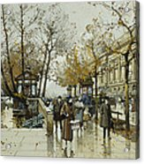 Le Quai De Louvre Paris Acrylic Print