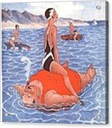 Le Sourire 1930s France Holidays Acrylic Print