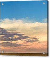 Leading Edge Storm Front And Moon Panorama Acrylic Print
