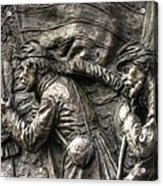 Leading The Way - State Of Delaware Monument Detail-j Gettysburg Acrylic Print