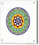 Leaf Mandala Acrylic Print