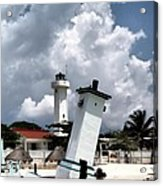 Leaning Lighthouse Of Mexico Acrylic Print