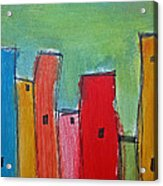 Leaning Towers Acrylic Print