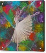 Leap Into Color Acrylic Print