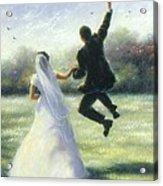 Leap Of Love Acrylic Print