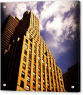 Leaps Tall Buildings With A Single Bound - Skyscraper Acrylic Print