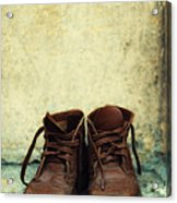 Leather Children Boots Acrylic Print