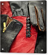 Leather Gloves Acrylic Print