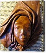 Leather Lady Acrylic Print