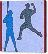 Leather Texture Art Bowler And Pitcher Base Ball Game Sports Competition Acrylic Print