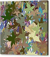 Leaves And Grass Abstract Acrylic Print