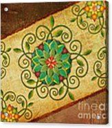 Leaves Rosette 1 Acrylic Print