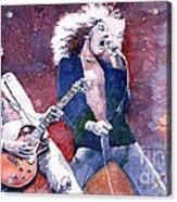 Led Zeppelin Jimmi Page And Robert Plant  Acrylic Print by Yuriy  Shevchuk
