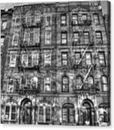 Led Zeppelin Physical Graffiti Building In Black And White Acrylic Print