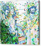 Led Zeppelin - Watercolor Portrait.2 Acrylic Print