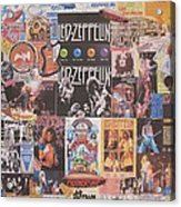 Led Zeppelin Years Collage Acrylic Print