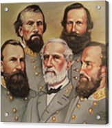 Lee And His Valiant Men Acrylic Print by Janet McGrath